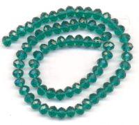 Perles  cristal 8x6mm Light emerald X 70