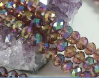 Perles cristal 8x6mm X 70