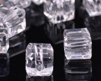Cubes en crystal crystal 4 mm X 25