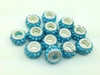 Perles Lampwork , perles de Murano et argent  10 et trou 5.... 925 silver x 10 perles