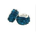 Perles Lampwork , perles de Murano et argent 925 silver 10 et trou 5 X 10