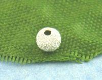 Perles Intercalaires Dépolies Argentées 3mm X 20