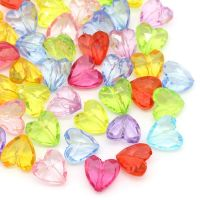 Perles intercalaires Acrylique Coeur  12x12mm X 10