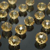 Rondelles briolettes 4 mm linon X 100