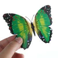 3D papillon décor Magnetique ou autocollant décor mural d'intérieur vert X 12
