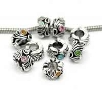 Mixte Perles Strass pour Bracelet  12x8mm...taille du trou = 5.6 mm X 10