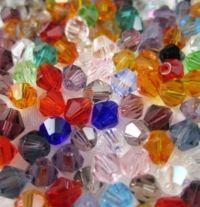 Toupies en crystal 4mm  Mixte X 100