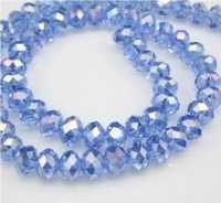 Perles cristal light sapphire AB 3 X 4mm x 200