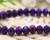Perles crystal 3 x 4 mm Dark sapphire AB X 150