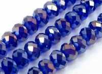 Perles crystal 3 x 4 mm Sapphire AB X 100