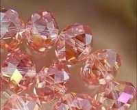 Perles cristal 8x6mm Light rose X 70