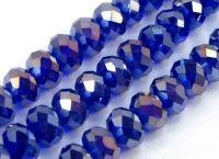 Perles en crystal 3 x 4 sapphire AB X 99