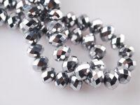 Perles cristal Argent 6x4mm  100pcs