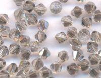 Toupies en cristal 3 mm Black diamond AB X 100