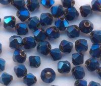 Toupies en cristal 3 mm Crystal metallic blue X 100
