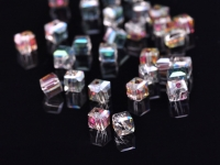 Cubes en crystal rose green