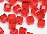 Cubes en crystal rouge