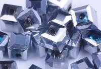 Cubes en crystal argent 6 mm X 10