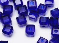 Cubes en crystal sapphire 4 mm X 25