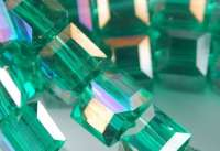 Cubes en crystal  green AB