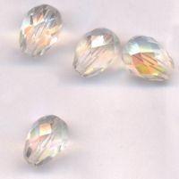 Perles poires crystal AB 18 x 9 et Taille du trou 1 mm X 6