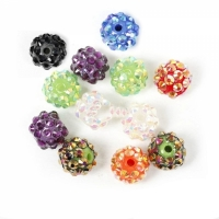 Boules rondes strass disco mixte 12 mm X 10