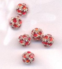 Boules rondes strass crystal 8 mm