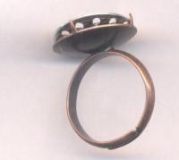 Bagues réglables ( plateau a sertir après assemblage des perles ) X 2