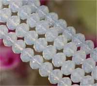 Perles cristal 8x6mm  white opal X 70