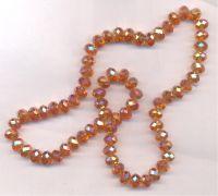 Perles cristal 6x8mm, X 46