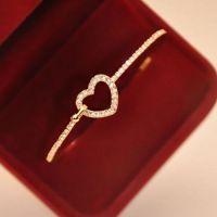 Luxe Plaqué Or Charme Coeur Bracelet X 1