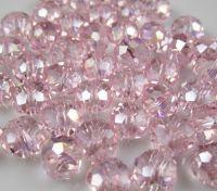Perles 6 x 4mm, perles  Light rose X 95