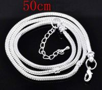 Chaîne Serpent Fermoir Mousqueton   50cm X 1