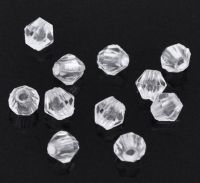Perles  Toupie 4 mm  Acrylique