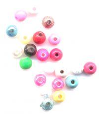 Perles 6 mm mixte x 23