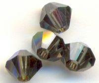 Toupies 4 mm crystal de boheme Morion AB X 100