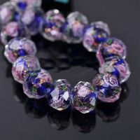 Perles Lampwork , perles de Murano 12 mm X 12