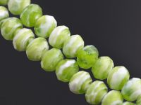 Perles Lampwork , perles de Murano light green