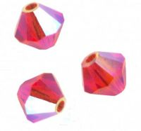 Perles toupies Swarovski 4mm  <br /> HYACINTH AB2X<br /> X 50 perles