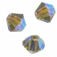 Perles toupies Swarovski  4mm  <br /> BLACK DIAMOND AB2X<br /> X 50 perles