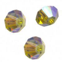 Perles toupies Swarovski 4mm  <br /> KHAKHI ( KAKI) AB2X<br /> X 50 perles