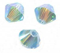 Perles toupies Swarovski  4mm  <br /> AQUAMARINE AB2X<br /> X 50 perles