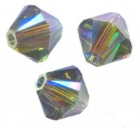 Perles toupies Swarovski 4mm  <br /> INDIAN SAPPHIRE AB2X<br /> X 50 perles