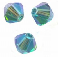 Perles toupies Swarovski 4mm <br /> INDICOLITE AB2X<br /> X 50 perles