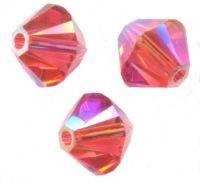 Perles toupies Swarovski 4mm  5328 PADPARADSCHA AB2X X 50 perles