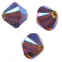 Perles toupies Swarovski 4mm  5328 SMOKED TOPAZ AB2X X 50 perles