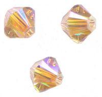 Perles toupies Swarovski 4mm   5328 VINTAGE ROSE AB2X X 50 perles