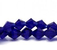 Perles sapphire Verre crystal  6mm X 48