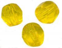 PERLES FACETTES DE BOHEME 6mm AB 25 perles CITRINE AB