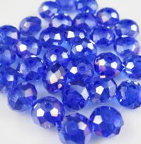 Perles crystal 3 X 4 mm Saphhire AB X 50